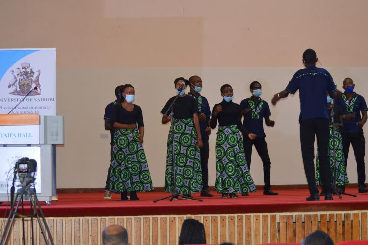 Another group performs during the prayer day
