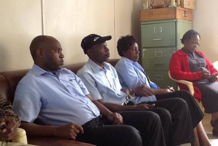 Internal Audit staff lead by Mr. Slvester Kiilu at Fountain of Life Childrens home
