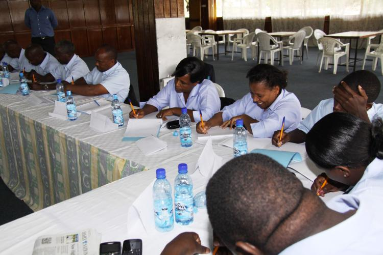 MS. IREEN MUIHIA AND OTHER AUDIT STAFF DURING ERM TRAINING