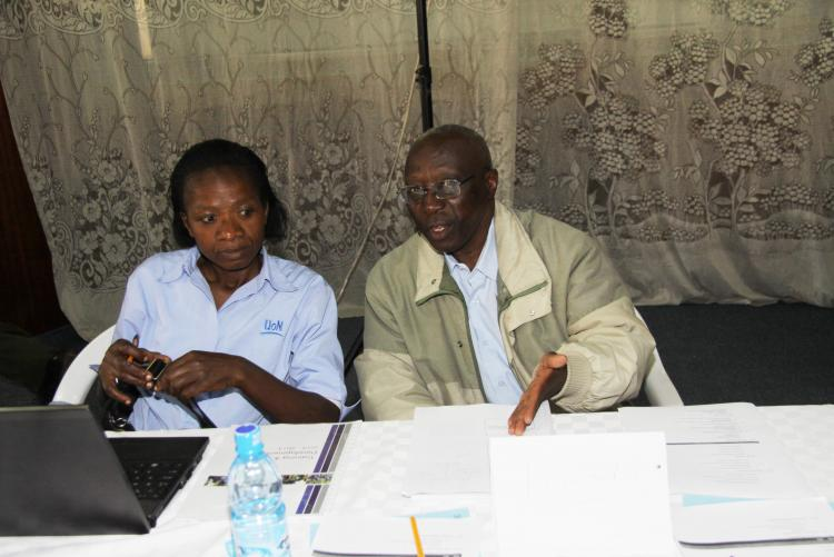 Mr. Peter Igiria the Chief Internal Auditor during the training