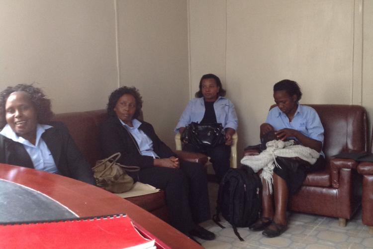 Ms. Sussane, Ms. Angela and Ms. Lilian during a visit to Fountain of Life Children's Home